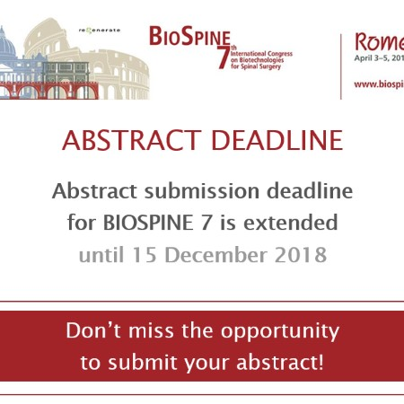 BioSpine7 Call for Abstract